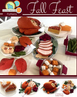 Fall Feast Thanksgiving - Felt Food PDF Pattern