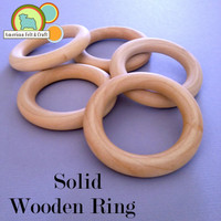 All Natural Birchwood Teething Rings
