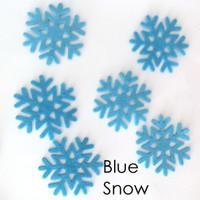 Blue Snow- felt snowflake cutouts
