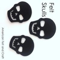 Felt Skulls- felt cutouts
