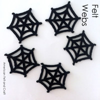 Spider web- felt cutouts