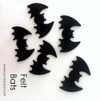 Bat shapes - felt cutouts