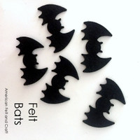 Bat shapes - felt cutouts