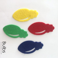 Bulbs- felt Christmas bulb cutouts