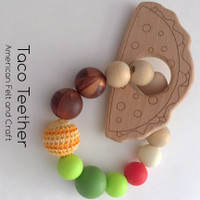Taco -  beechwood teether