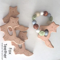Fox -  beechwood teether