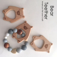 Bear -  beechwood teether