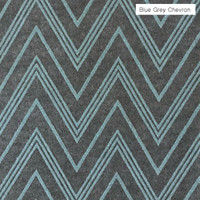 Grey Blue Chevron - printed felt