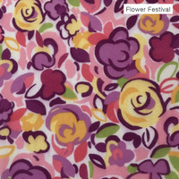 Flower Festival  - printed felt - DISCONTINUED