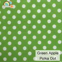 Green Apple / White Polka Dot