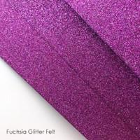 Fuchsia Glitter Felt