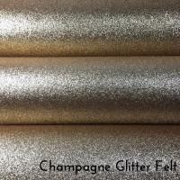 Champagne Glitter Felt
