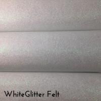 White Glitter Felt