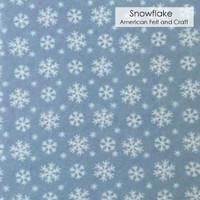 Snowflake - Printed Felt