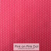 Pink on Pink Dot - Printed Felt