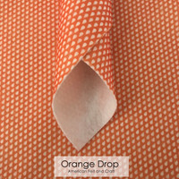 Orange Dot - Printed Felt