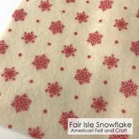 Fair Isle Snowflake - Printed Felt