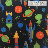 Space Race - Printed Felt