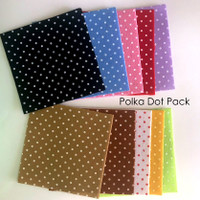 Polka Dot Felt Pack - 10 pack