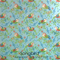 Songbird  - Printed Felt