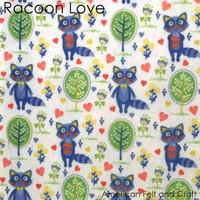 Raccoon Love  - Printed Felt