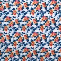 Blue floral - Printed Felt