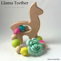 Llama -  beechwood teether