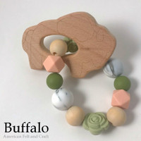 Buffalo - beech-wood teether