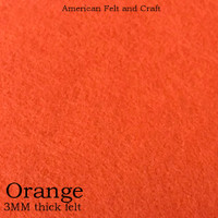 Orange- 3mm thick felt sheet