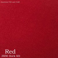 Red- 3mm thick felt sheet