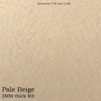 Pale Beige- 3mm thick felt sheet