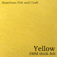 Yellow- 3mm thick felt sheet