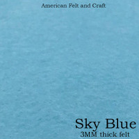 Sky Blue- 3mm thick felt sheet