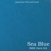 Sea Blue- 3mm thick felt sheet