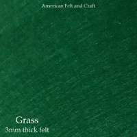 Grass Green - 3mm thick felt sheet