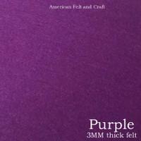 Purple - 3mm thick felt sheet