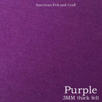 Purple - 3mm thick felt sheet