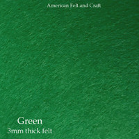 Green - 3mm thick felt sheet