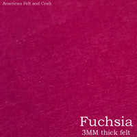 Fuchsia - 3mm thick felt sheet