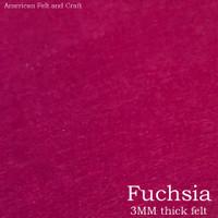 Fuchsia - 3mm thick felt sheet