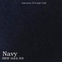 Navy - 3mm thick felt sheet