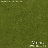 Moss - 3mm thick felt sheet