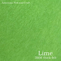 Lime Green - 3mm thick felt sheet