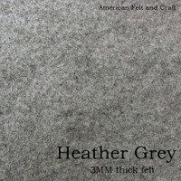 Heather Grey - 3mm thick felt sheet