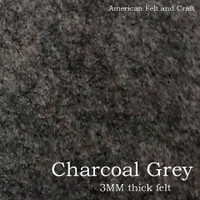 Charcoal Grey - 3mm thick felt sheet