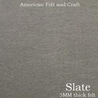 Slate Grey - 3mm thick felt sheet