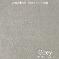 Grey - 3mm thick felt sheet