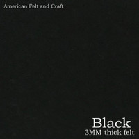 Black - 3mm thick felt sheet