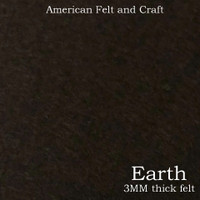 Earth - 3mm thick felt sheet