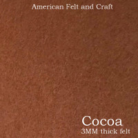 Cocoa Brown - 3mm thick felt sheet